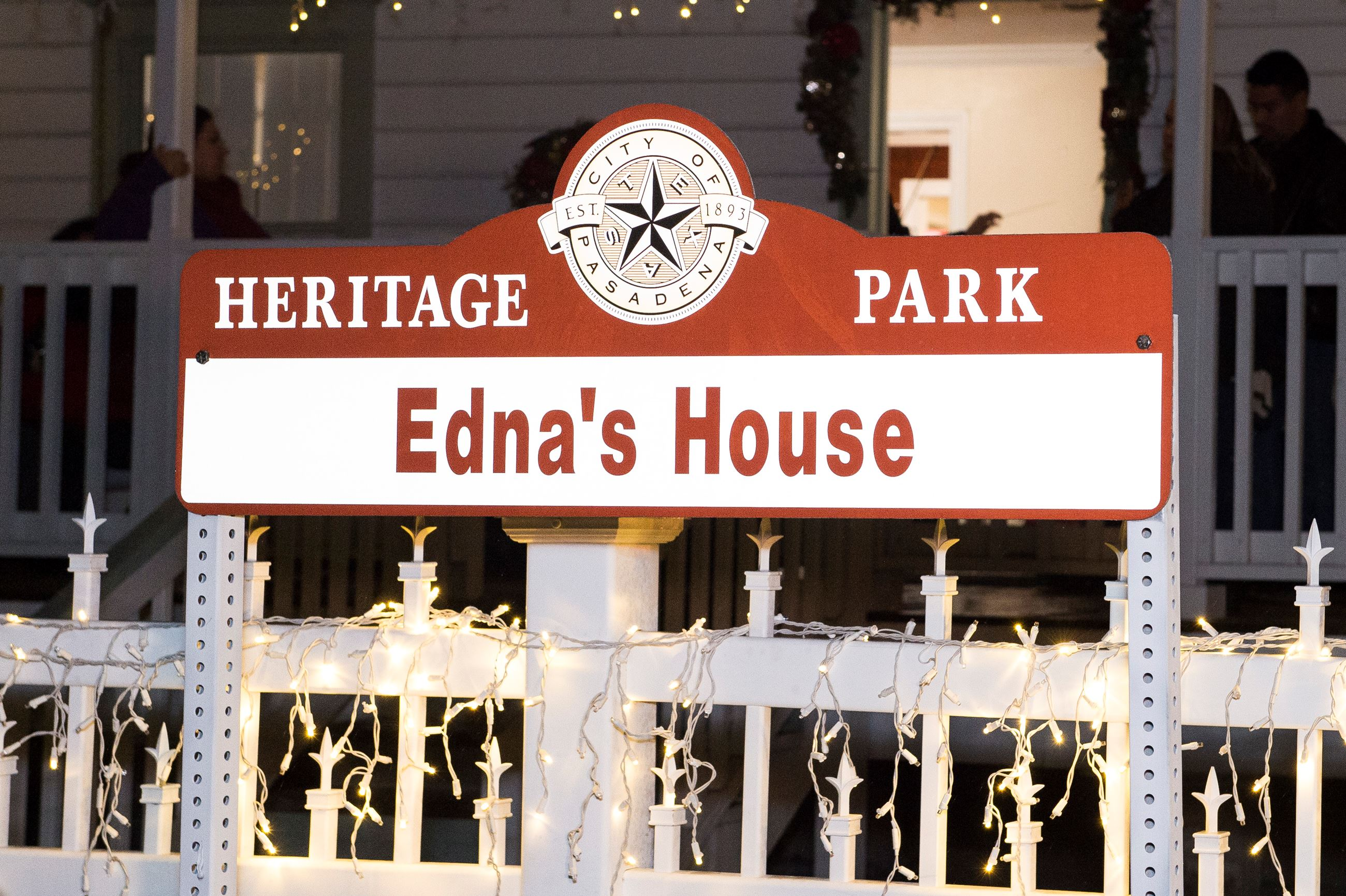 Sign for Edna&#39s House at the Heritage Park and Museum