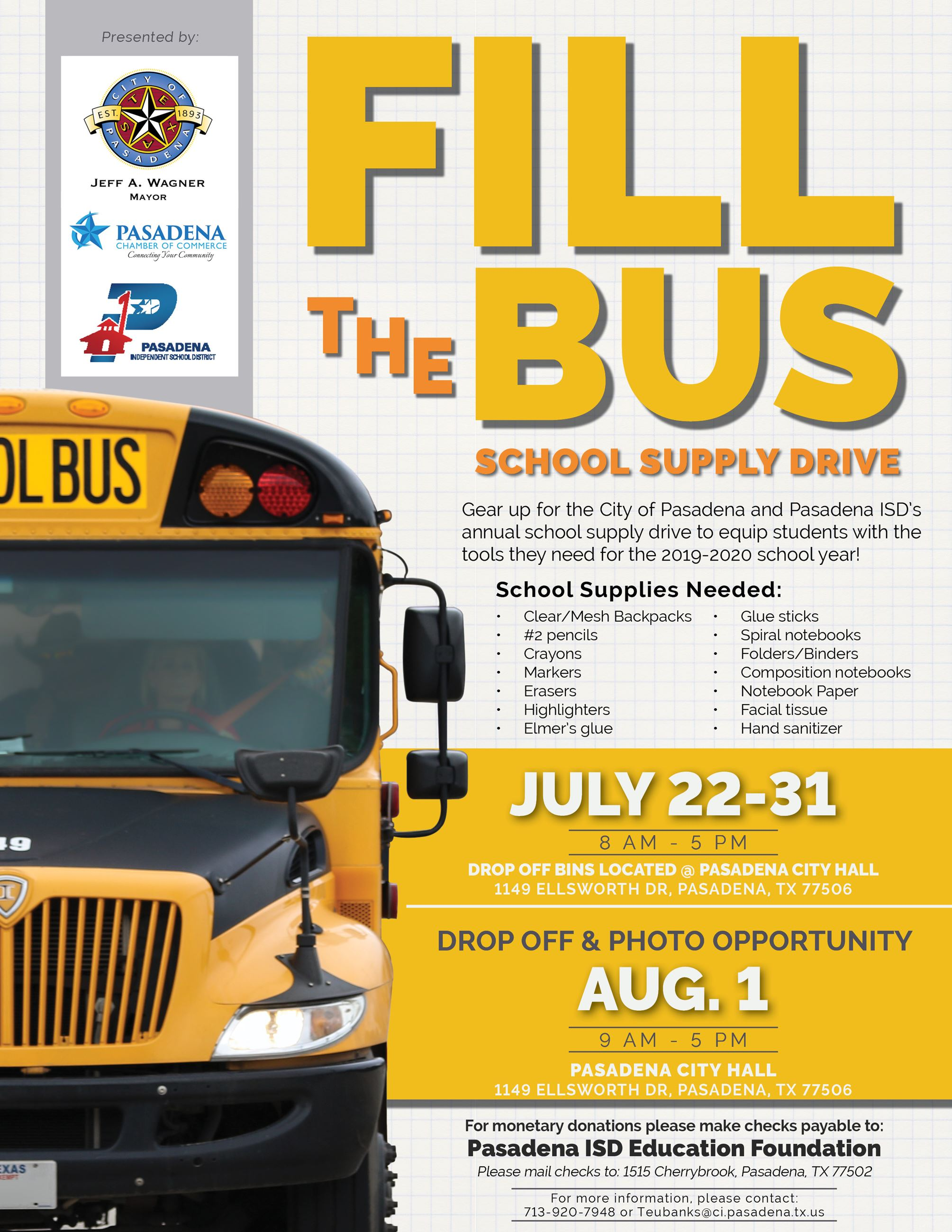 Fill the Bus information