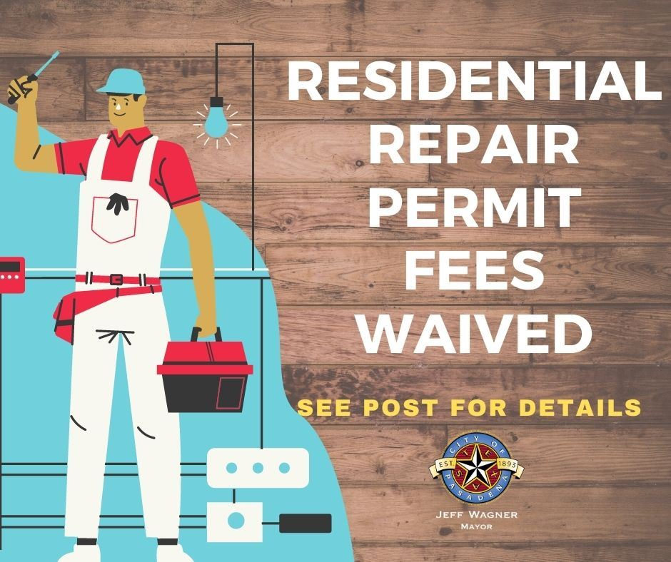 Residential repair Permits Waived