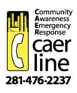 Community Awareness Emergency Response (CAER) Phone Line 281-476-2237