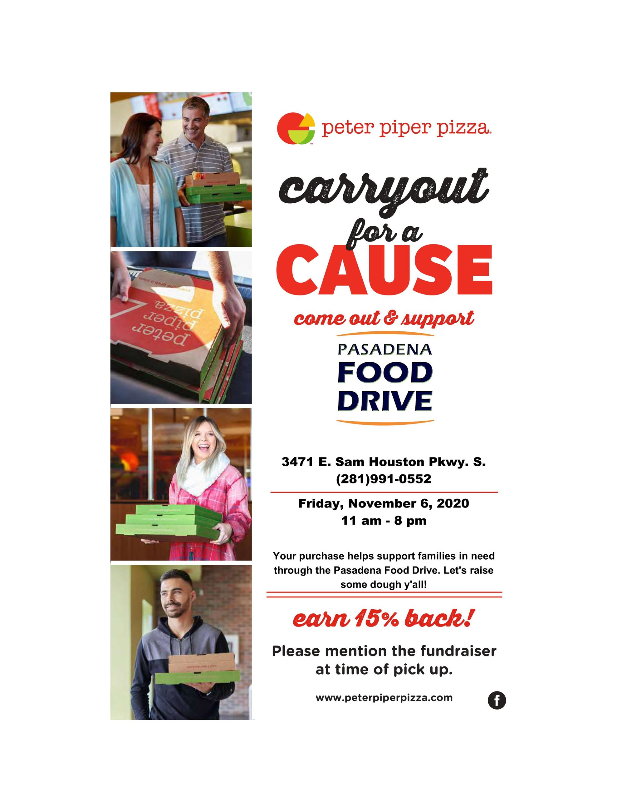 Peter Piper food drive fundraiser