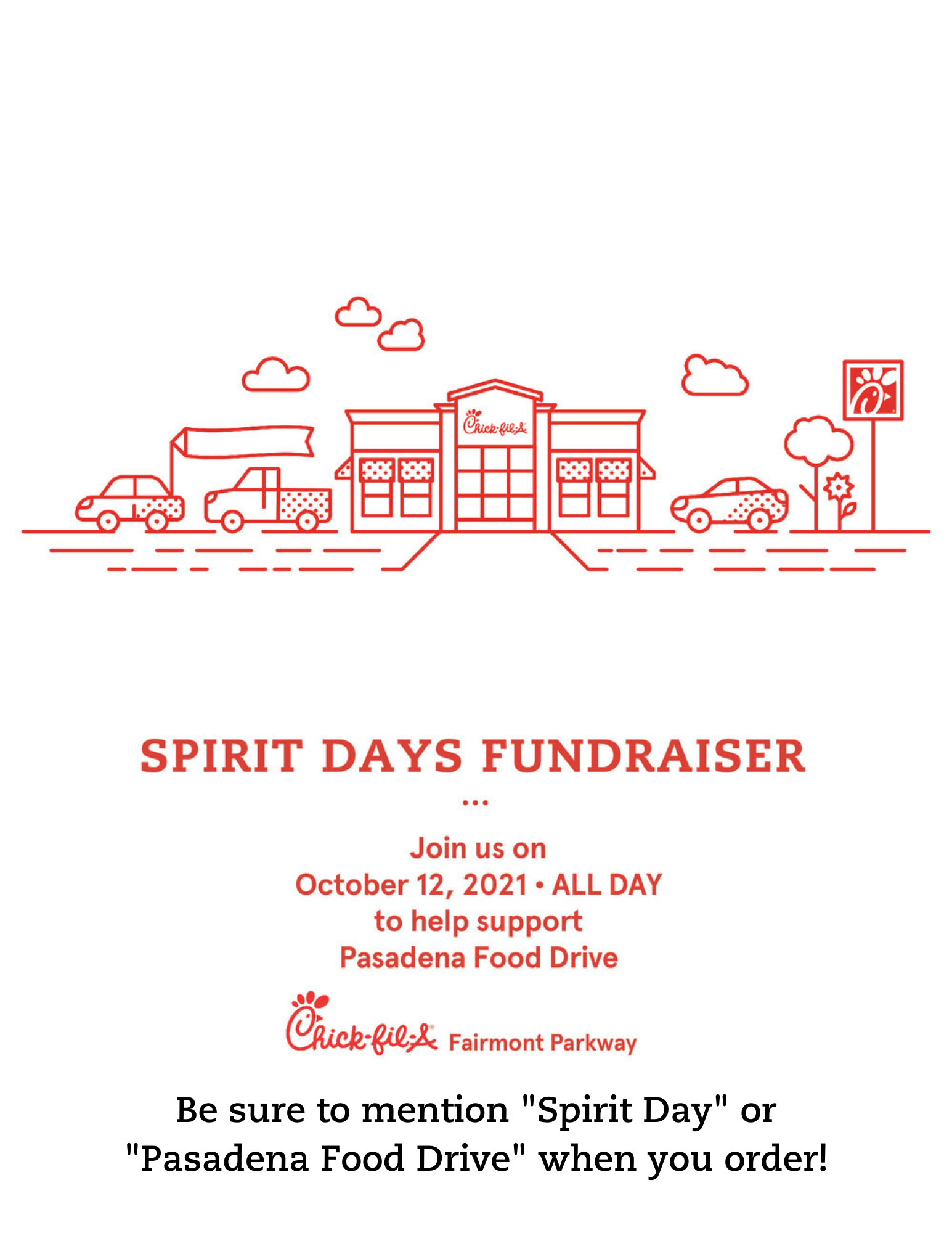 Chick-fil-A fundraiser for the Pasadena Food Drive